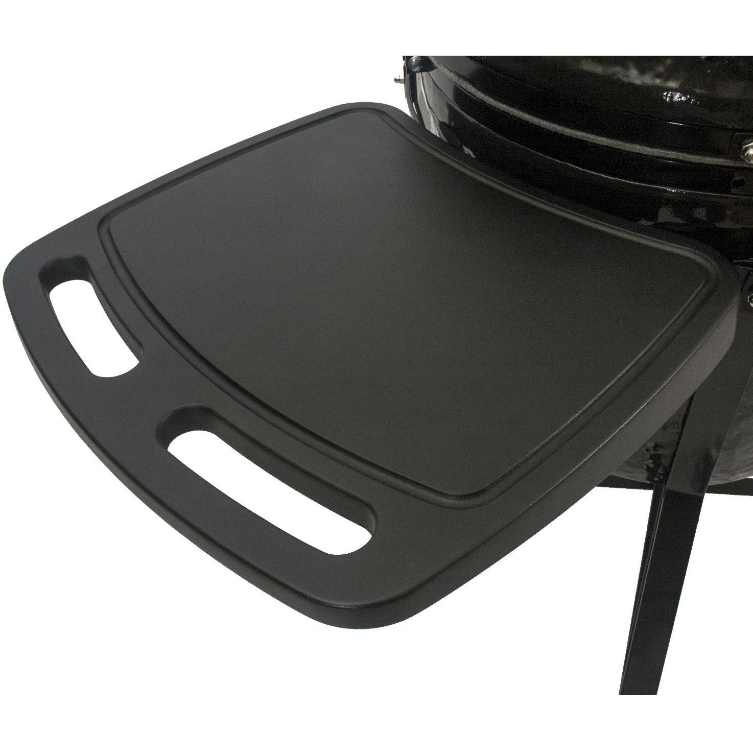 Primo All-In-One Oval XL Ceramic Kamado Grill With Cradle & Side Shelves